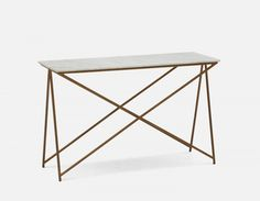 NESTA - Marble Console Table - White