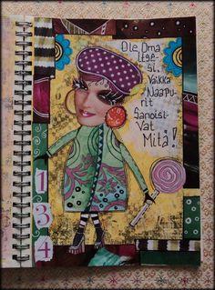 """Art Journal by *Silkku* """"Be yourself"""" silkkus.blogspot.fi"""