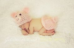 piggy hat and rump cover by Crochetmylove designs