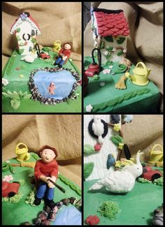 Birthday cake for a Father who loves fishing, birds and gardening