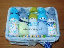 Windelbabys in der Box - Junge, Windeltorte