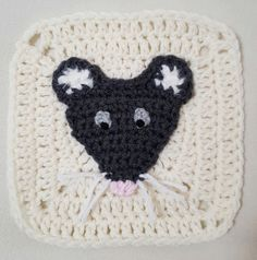 "Here is one of the ""redo's"" I've been mulling over doing for my afghan. My first mouse applique kinda more resembled a plain ol' rat (nothing against rats, I had them …"