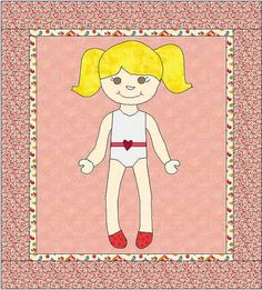 Paper Doll Appliqué Pattern Paper Doll by QuiltingByJacqueline