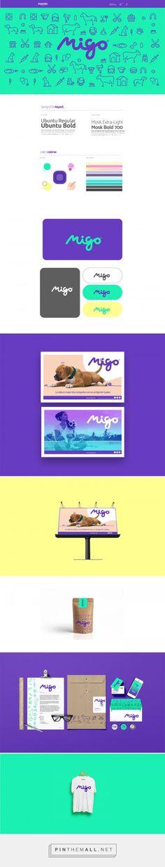 Migo on Behance Logos, Logo Branding, Print Design, Web Design, Graphic Design, Visual Identity, Brand Identity, Restaurant App, Text Icons