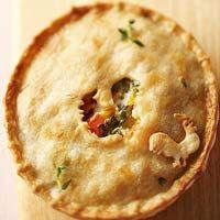 Chicken Alfredo Pot Pies Recipe
