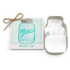 Mason Jar Cookie Cutter @KYrestaurantsupply.  Fun, trendy shape to use for a bridal shower or as a wedding favor. Add a monogram or initial to personalize it!