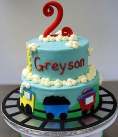 Train Birthday Cake by cjmjcrlm (Rebecca), via Flickr