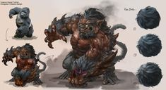 ArtStation - Gorilla Creature Design & Fur Ball , Dongjun Lu