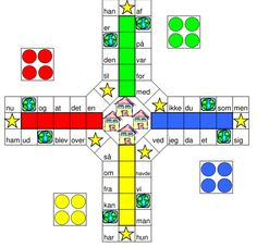 Ludo med de 120 hyppigste ord Teaching Kids, Kids Learning, Kid N Play, Cooperative Learning, Brain Breaks, Emu, Teaching Materials, Learn To Read, Primary School
