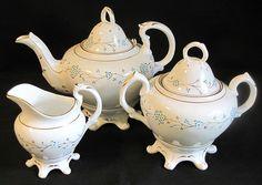 Lovely Early 1800's English Sprig Porcelain Tea Set