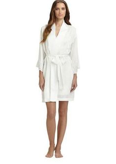 Natori-Kasalan Lace-Trimmed Robe, Saks Fifth Avenue Saks Fifth Avenue, Favorite Things, How To Wear, Shopping, Style, Fashion, Dress, Moda, La Mode