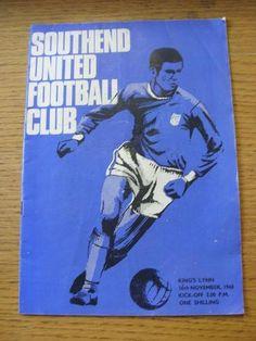 16 11 1968 Southend United v Kings Lynn FA Cup slight fold Item In very goo Fa Cup, Kicks, The Unit, Football, Classic, Soccer, Derby, Futbol, American Football
