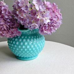 Turquoise milk glass.