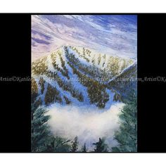 Watercolor Painting, Whiteface Mountain, New York, Landscape Painting,... ($25) ❤ liked on Polyvore featuring home, home decor, wall art, mountain painting, new york painting, mountain home decor, mountain scene paintings and watercolour painting