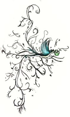Colour Swallow Tattoo Design Print by charlottelucyy on Etsy, $31.64