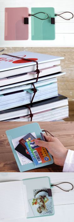 Bookmark Pocket & Holder has many various uses that will simply make your life much easier! This bookmark can be easily inserted into your book, notebook or planner to give you extra pockets to insert important documents or aids. Insert your favorite pen on the pen holder, and let the holder hold your import notes, pictures, stickers, and many others in its pocket. The elastic band then can be strapped around the book to keep everything together in one place!
