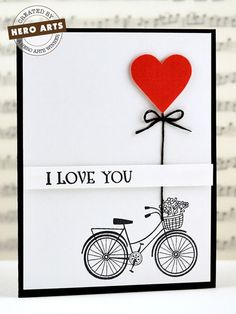 Valentine's Day or just an I Love You card created post on Hero Arts blog...it is another really simple card and so cute.