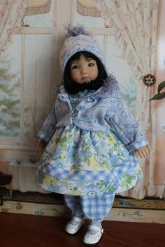 """SOFTER SIDE OF FALL"" 8-Piece Ensemble for your 13"" Little Darling Doll #DiannaEffner"