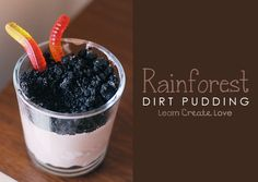 Rainforest Dirt Pudding recipe from http://learncreatelove.com
