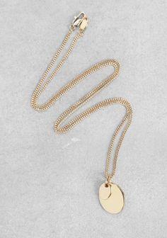 Medallion Pendant Necklace, &Otherstories