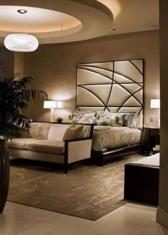 Luxary bed room with amazing rug
