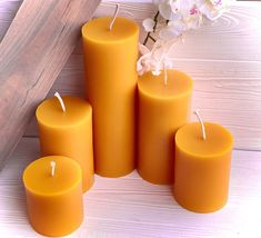 2.4 x 3 and 2.4 x 5 Dripped Beeswax Rustic Candles Organic Beeswax Pillars Handmade Bees Wax Candles Rustic Beeswax Candles Bee Gift