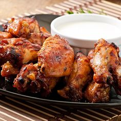 Marinated Chicken Wings, Fried Chicken Wings, Baked Chicken, Chicken Recipes, Japanese Chicken Wings, Molho Ranch, Vinaigrette, Barbecue Chicken, Yum Yum Chicken