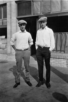 In Los Angeles, Walt Disney partnered with his brother, Roy to create Disney Bros. Studio, a two-man operation located in the back of a real estate office. Roy brought financial and business knowhow to the enterprise. Roy and Walt are pictured in front of their studio in 1923. Credit: Courtesy of the Walt Disney Archives Photo Library