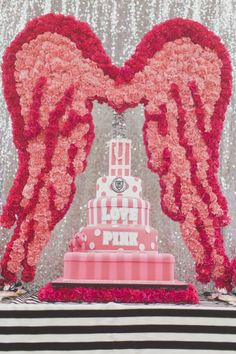 Cake display at Victoria Secret PINK party in Houston by Occasio Productions… Victoria Secrets, Victoria Secret Cake, Sweet 16 Parties, Pink Parties, Birthday Goals, Birthday Party Themes, Birthday Ideas, Pink Birthday Cakes, Pink Cakes