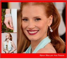 Golden Globes 2013 - The Real Deal: Jessica Chastain & Harry Winston