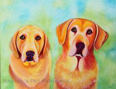 16x20 Custom Pet Portrait Watercolor by rachelspetpaintings