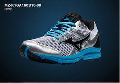 Mizuno Mens Spark Athlectic Running Shoes Sneakers MZ-K1GA160310-00 #Mizuno #AthleticSneakers