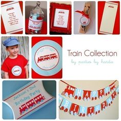 Train Party CollectionPrintable PDF File with by nickwilljack, $20.00