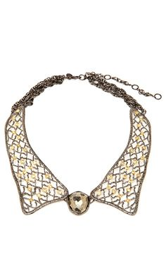 Jardin De Papillon Lace Collar Necklace by Alexis Bittar for Preorder on Moda Operandi