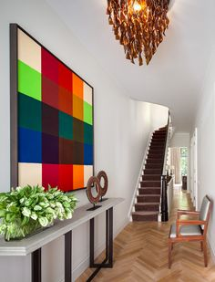 Contemporary Entry and Hall in New York, NY by Shawn Henderson Interior Design