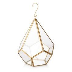 Buy the Hanging Gold & Glass Terrarium at Oliver Bonas. Enjoy free UK standard delivery for orders over £50.