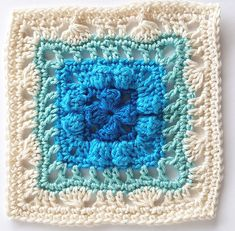 Week 18 Salton by Shelley Husband 2016 Crochet Squares Afghan, Crochet Square Patterns, Crochet Quilt, Crochet Blocks, Crochet Chart, Crochet Granny, Crochet Motif, Crochet Designs, Crochet Stitches
