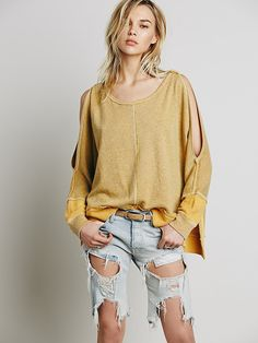 Free People Cold Shoulder Pullover at Free People Clothing Boutique