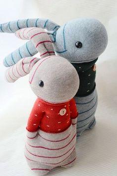 2015我的手作襪子娃娃 - 襪子娃娃205+206情侶兔 (3) @ graceyen 的相簿 :: 痞客邦 PIXNET ::