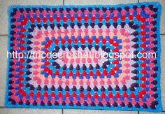 Tricô e Crochê - Knitting and Crochet: Tapete de Croche em Barbante
