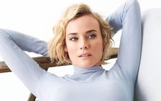 Download wallpapers Diane Kruger, German actress, 4k, portrait, fashion model, photoshoot, blonde