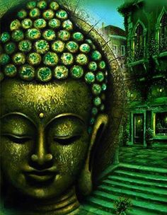 Green Buddha  Buy/Sell paintings and Art prints online at www.abstract4life.com  Find Art work that matches your style.  Rich collection of paintings and sketches.