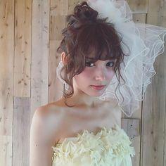 bridal hair ・ ・ #weddingdress #wedding #updo #bridal #bridalhair #プレ花嫁 #ウェディングドレス #ブライダルヘア