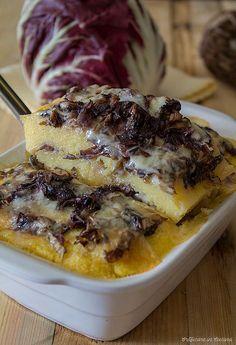 Sformato di polenta con radicchio e taleggio