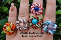 Two Fun Cocktail Beaded Rings to Make! - The Beading Gem's Journal
