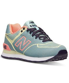 New Balance Women's 574 Woven Casual Sneakers from Finish Line