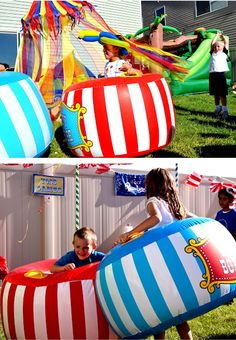 This was my inspiration for the kids' Carnival Birthday Party last year! =D