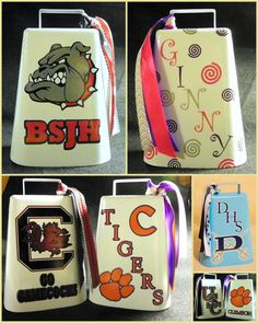 Custom Cowbells Team Spirit School Spirit by SouthernBlueCreation, $20.00