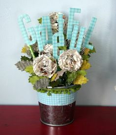 Pen n paper flowers craft all you magazine take this make that paper flower arrangement mightylinksfo