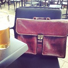 relax beer leather bag